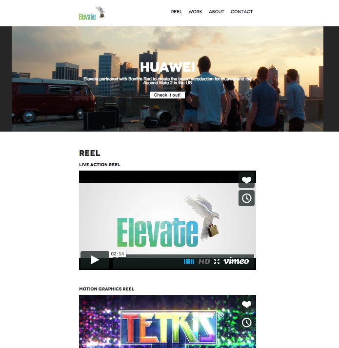 elevate pictures website