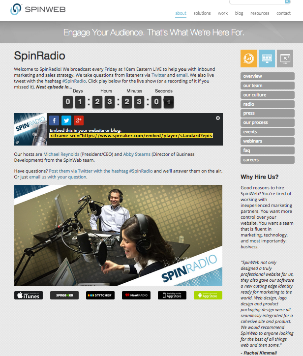 spinwebradio