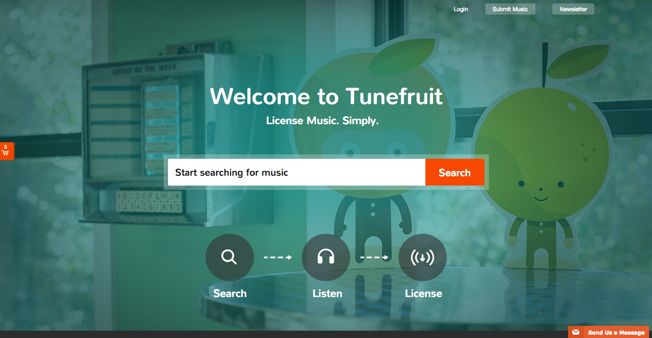 Tunefruit Main Page